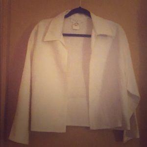 Escada white cotton open jacket